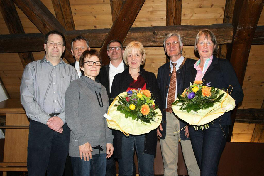 Neuer und alter Vorstand bei der Mitgliederversammlung 2014