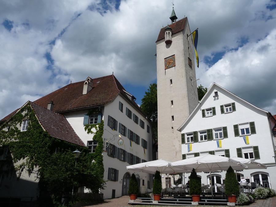 Bockgebäude und Bockturm am Gänsbühl