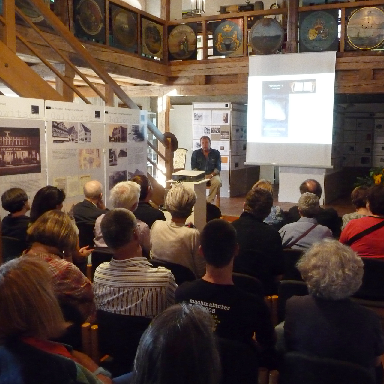 Vortrag von Gunter Demnig im Museum im Bock
