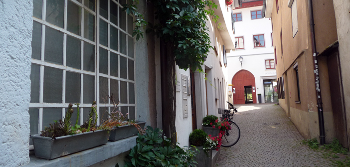 Paradiesgässle mit Blick auf Gotisches Haus