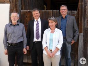 Von links nach rechts: Georg Zimmer, Hans-Jörg Henle, Andrea Häfele und Karl-Anton Maucher